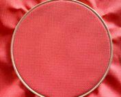 Aida 14 coral cross stitch fabric