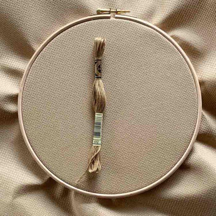 mocha aida 14 count cross stitch fabric
