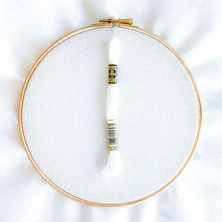 Aida 18 count white cross stitch fabric