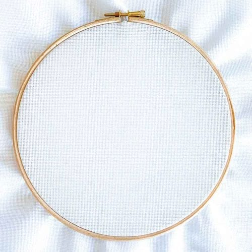 Aida 18 count white cross stitch fabric