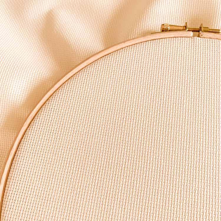 Aida 18 ecru cross stitch fabric