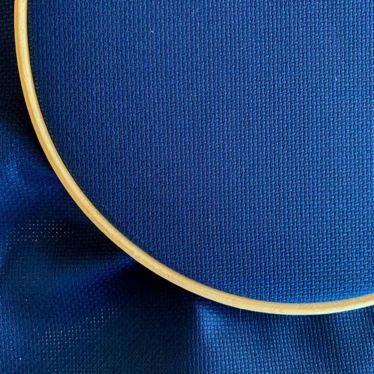Aida 16 count cross stitch fabric night blue