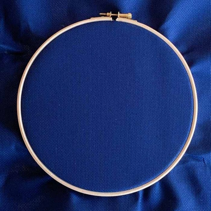 Aida 16 count cross stitch fabric night blue