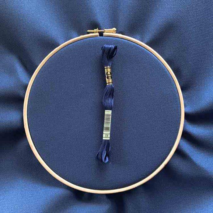 Aida 18 dark denim cross stitch fabric-3