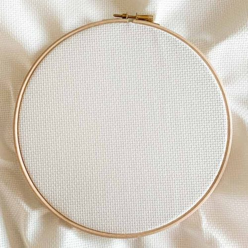 antique white aida 11 cross stitch fabric