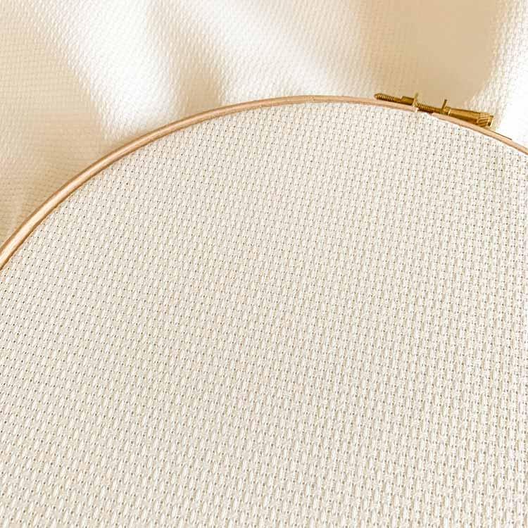 antique white aida 11 cross stitch fabric
