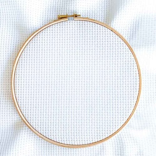 Aida 6 white cross stitch fabric
