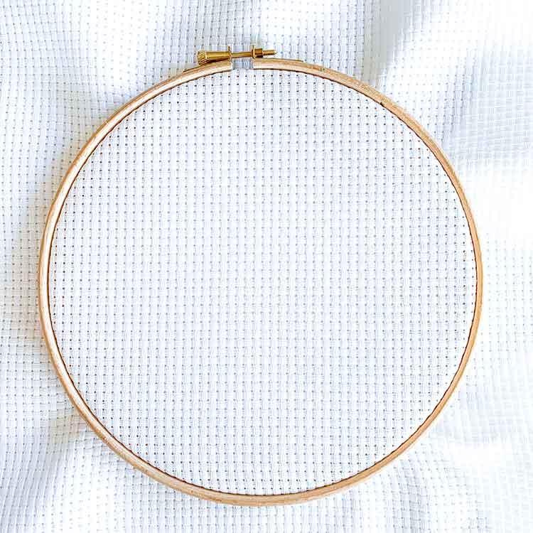 Aida 6 white cross stitch fabric
