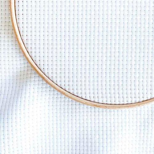 Aida 6 count white cross stitch fabric
