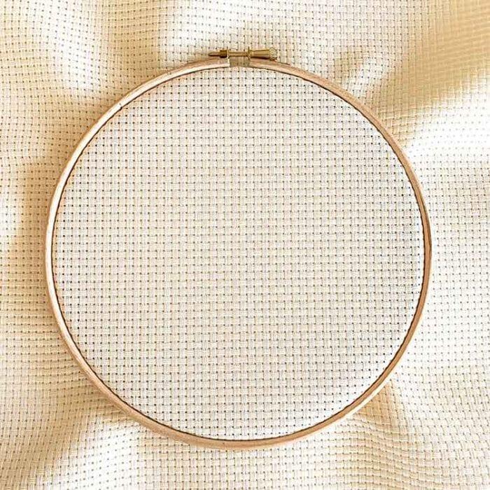 Aida 6 creme cross stitch fabric
