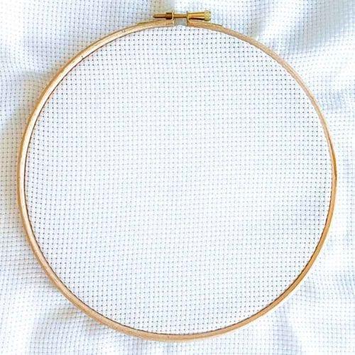 Aida 8 count white cross stitch fabric