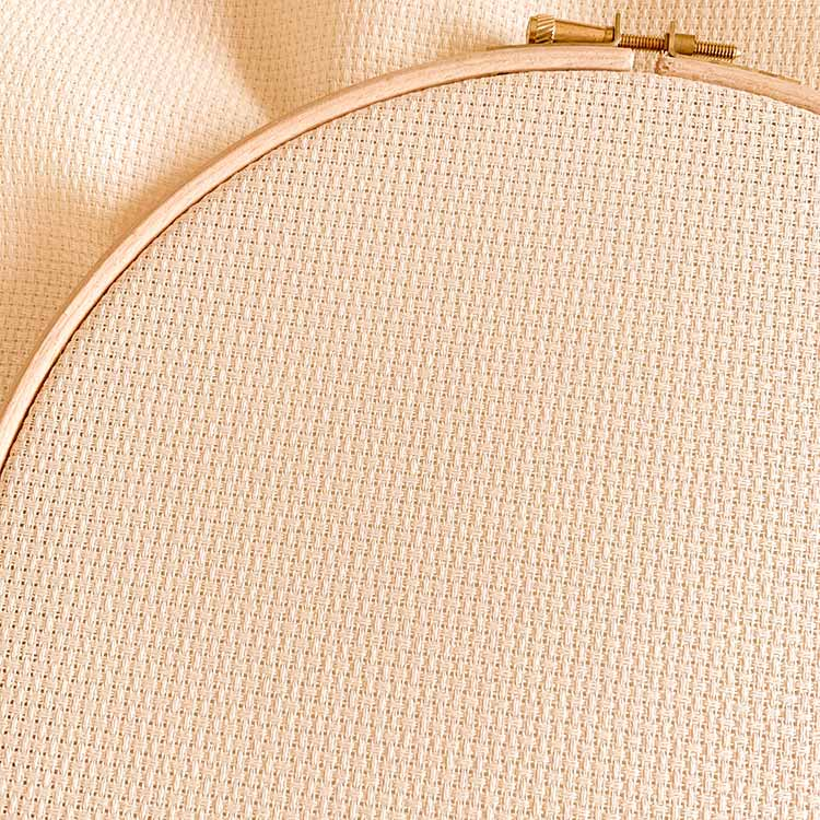 Aida 11 Ecru embroidery fabric for children