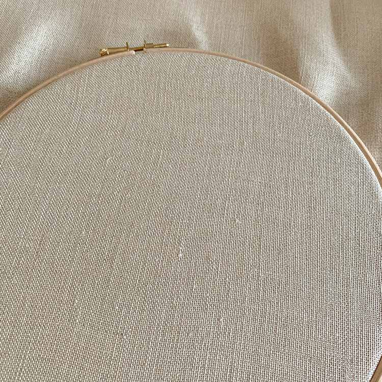 Sand 32 count linen fabric
