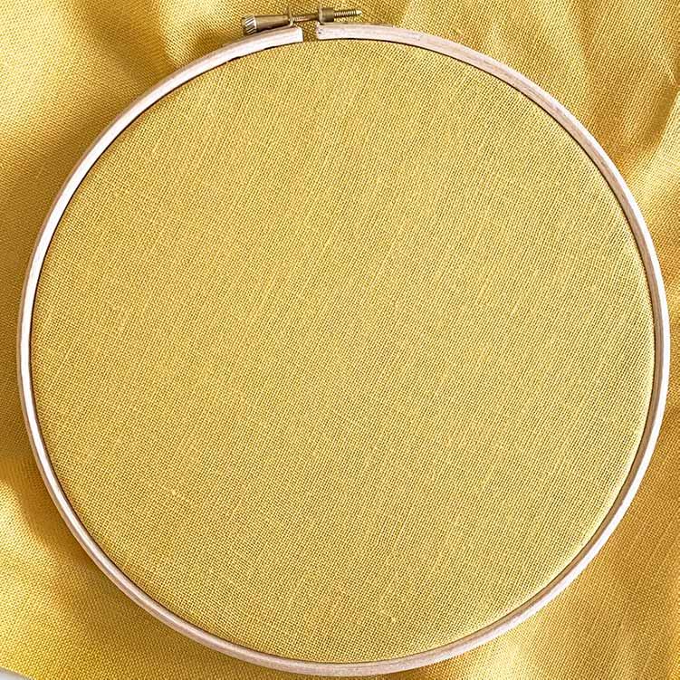 ochre 32 count linen cross stitch fabric