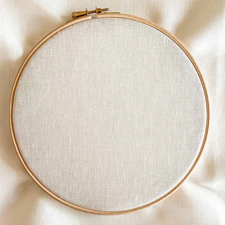 antique white 32 count embroidery linen