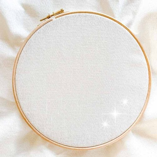 belfast white sparkle 32 count linen evenweave cross stitch fabric