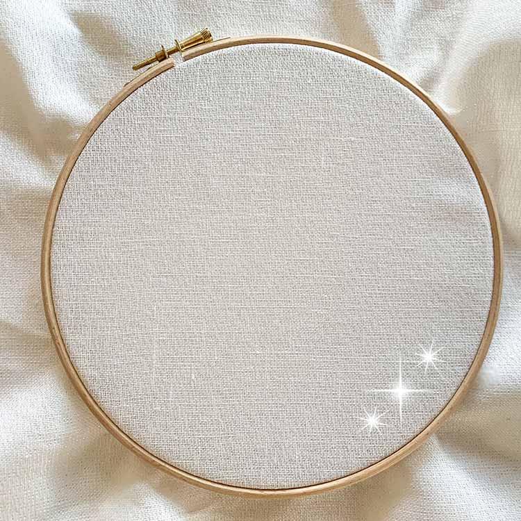 belfast white sparkle 32 count linen evenweave cross stitch fabric