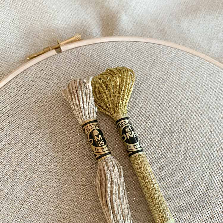 belfast gold sparkle 32 count linen evenweave cross stitch fabric