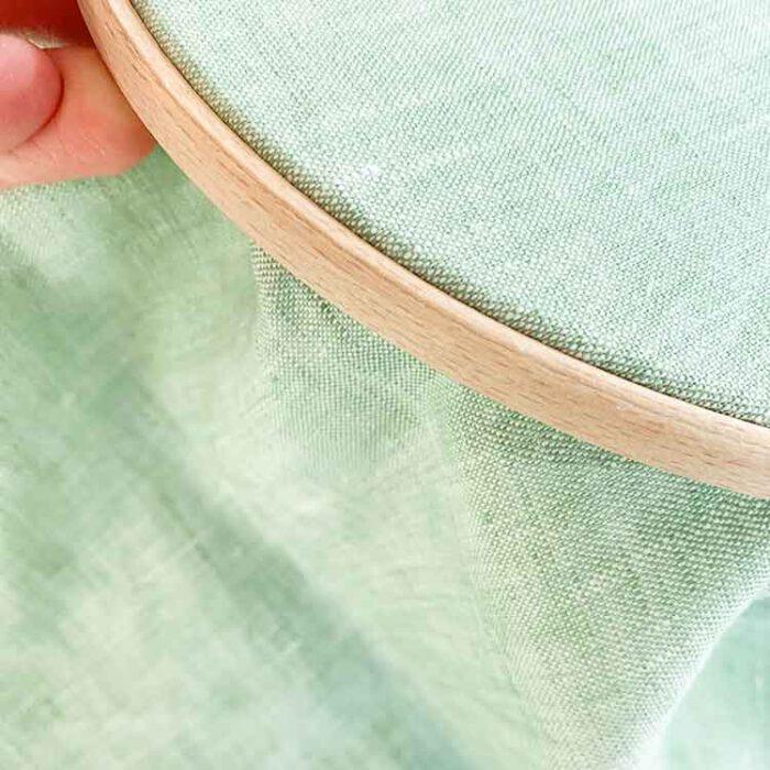 ecological linen licht groen GOTS certified embroidery linen