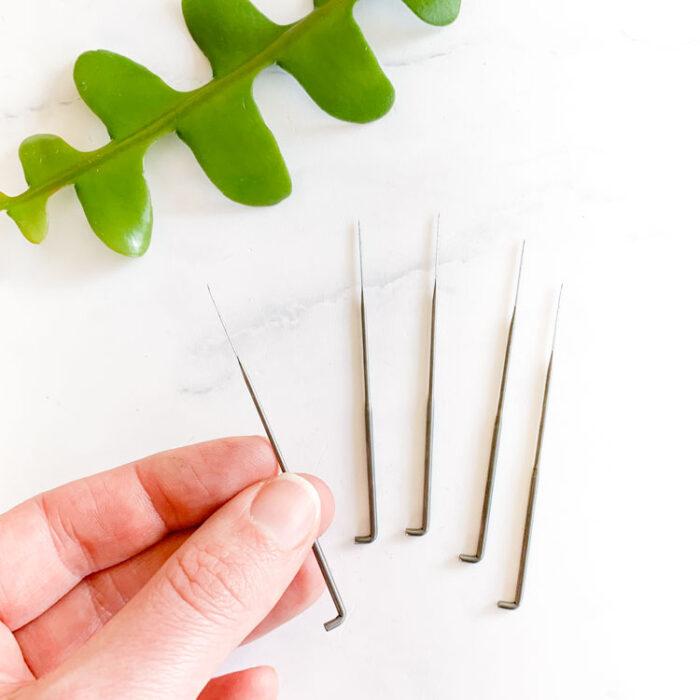 Set 5 felt needles