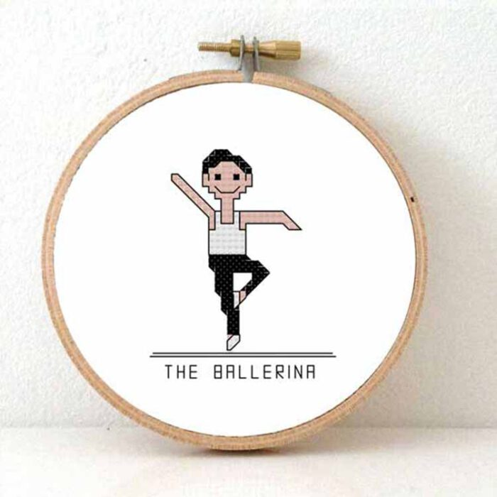 male ballerina cross stitch pattern