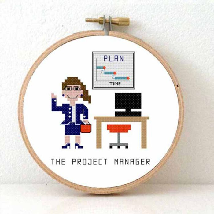 female project manager cross stitch pattern