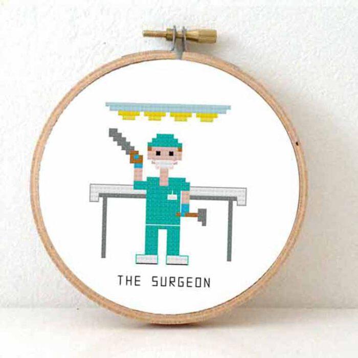 male surgeon cross stitch pattern