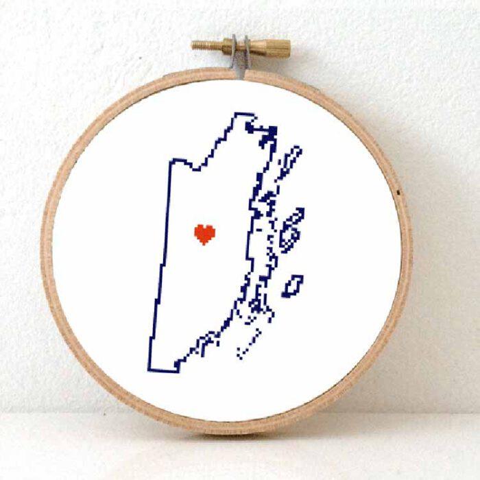 stitchamap - Belize map cross stitch pattern