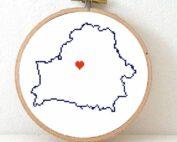 Stitchamap Belarus map cross stitch pattern