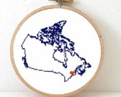 Stitchamap - Canada - map