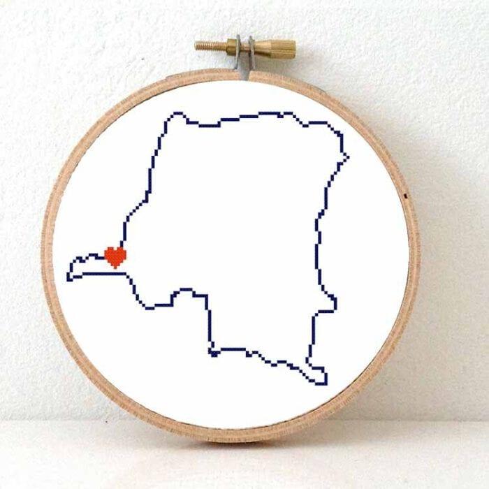 stitchamap - congo cross stitch pattern map
