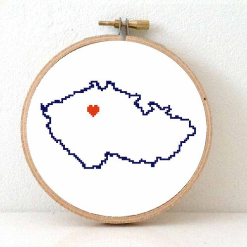 Stitchamap - Czech Republic map cross stitch pattern