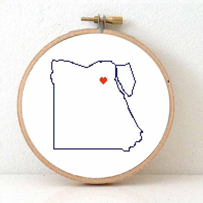 Stitchamap Egypt map cross stitch pattern
