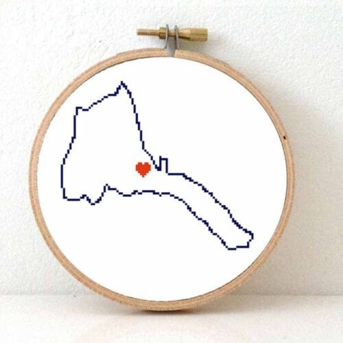 Stitchamap - eritrea map cross stitch pattern