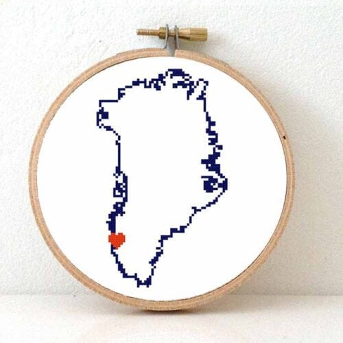 Greenland cross stitch pattern