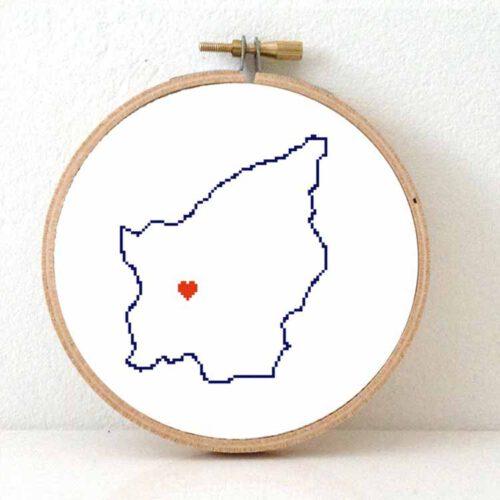 San Marino map cross stitch pattern