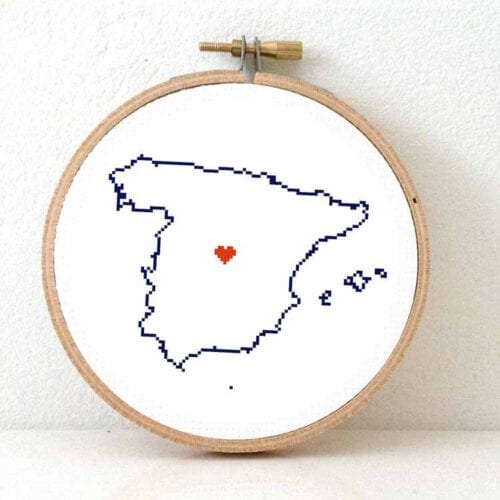 Spain map cross stitch pattern