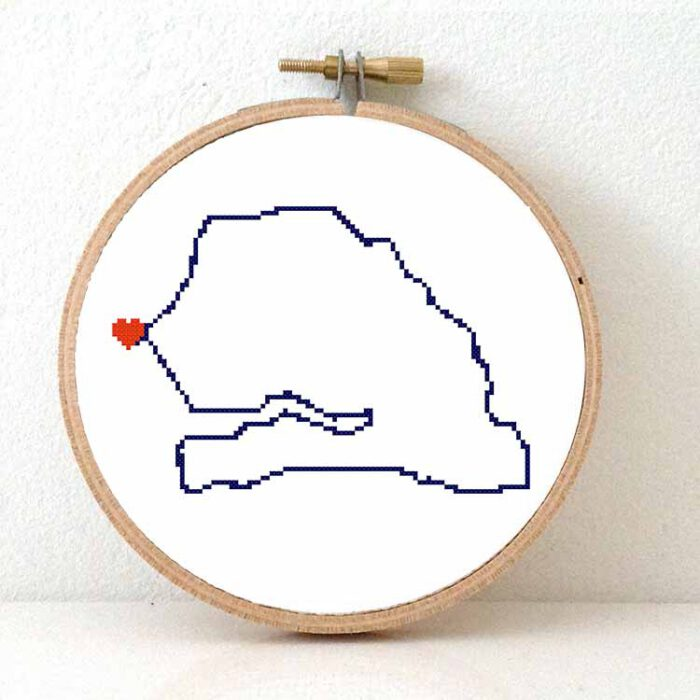 Senegal map cross stitch pattern