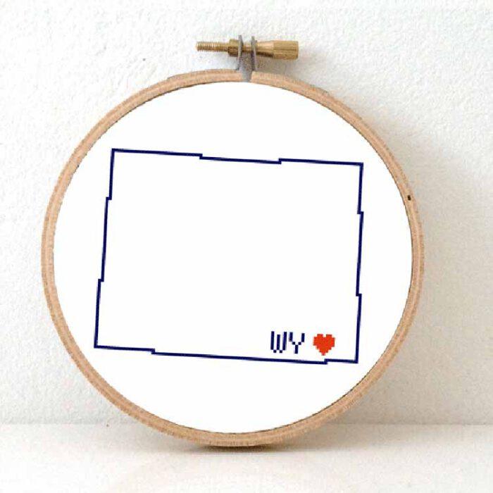 stitchamap - wyoming cross stitch pattern map