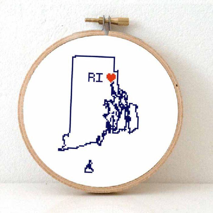 Stitchamap - Rhode Island