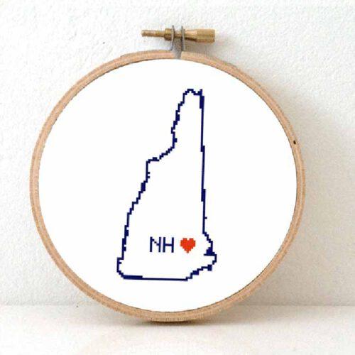 stitchamap - New Hampshire cross stitch pattern