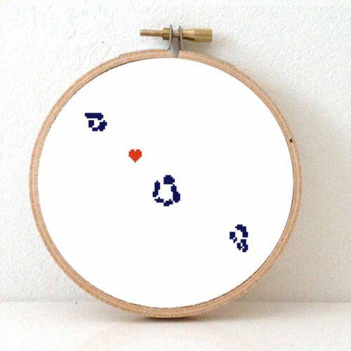 Tokelau map cross stitch pattern