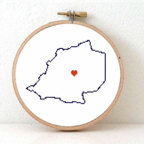 Vatican City map cross stitch pattern