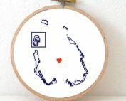 Cocos keeling islands map cross stitch pattern