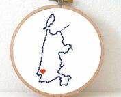 Noord-Holland map cross stitch pattern
