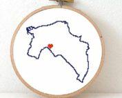 Groningen map cross stitch pattern