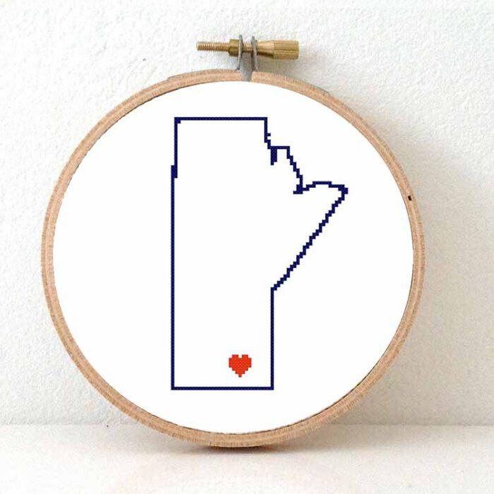 Stitchamap - Canada - Manitoba cross stitch pattern
