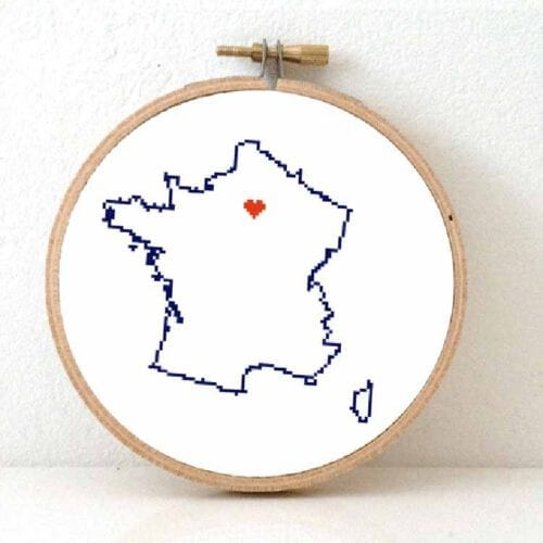 Stitchamap france cross stitch pattern