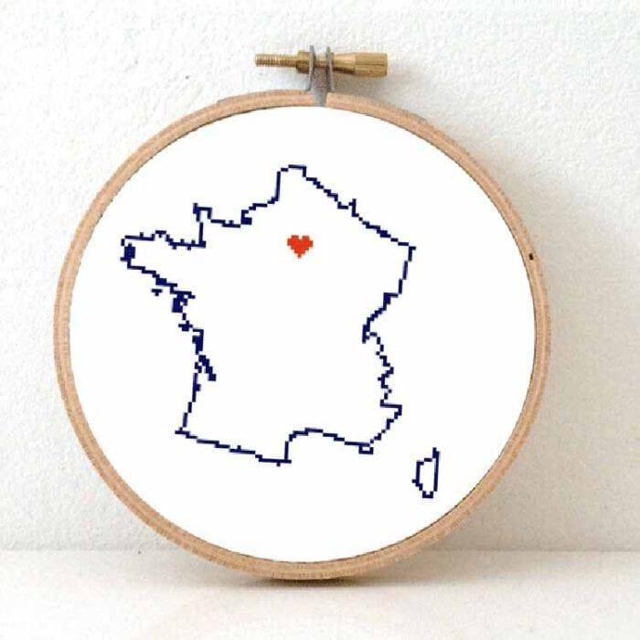 Stitchamap france cross stitch pattern