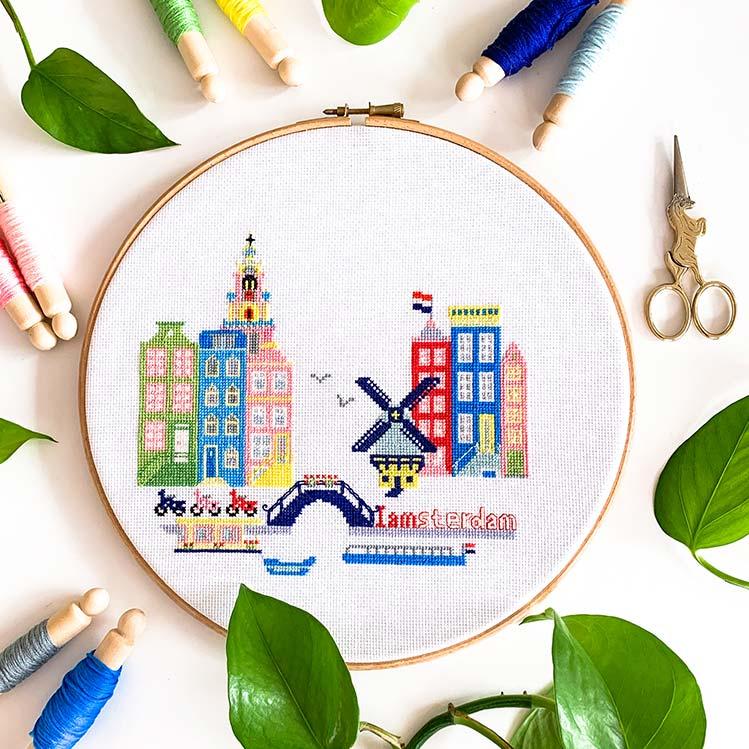 Amsterdam cross stitch kit